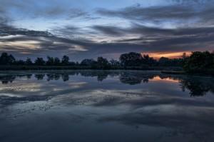 Chr sunset at fishing pond david jolley metro parks for Fishing ponds columbus ohio