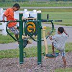 Kids on play equipment (Susan Boggs)