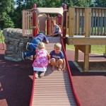 Kids on play equipment (Bryan Knowles)