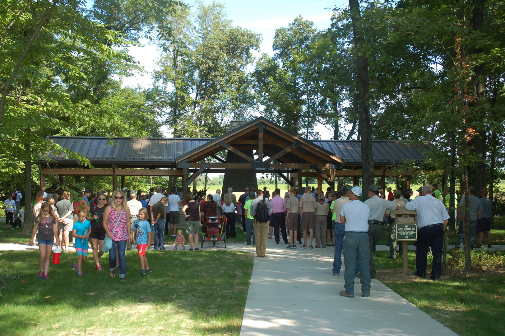 Millstone Picnic Shelter at park opening