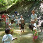 Preschoolers have fun creeking in Spring Creek at Sharon Woods. (Michelle Boyd-Dailey)