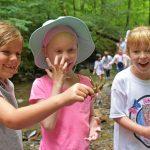 Girls find a crayfish at a nature camps at Highbanks. (Angela Latham)