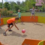 Kids play gaga ball at a Homestead summer camp. (Virginia Gordon)