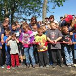 Ribbon cutting to open the park (Karen Fahy)