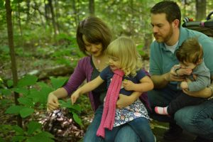 Family and pawpaw leaves by Mike Shiflet