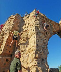 Scioto Audubon climbing wall by DJ White.