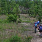 Mountain bikers riding at Quarry Trails Metro Park
