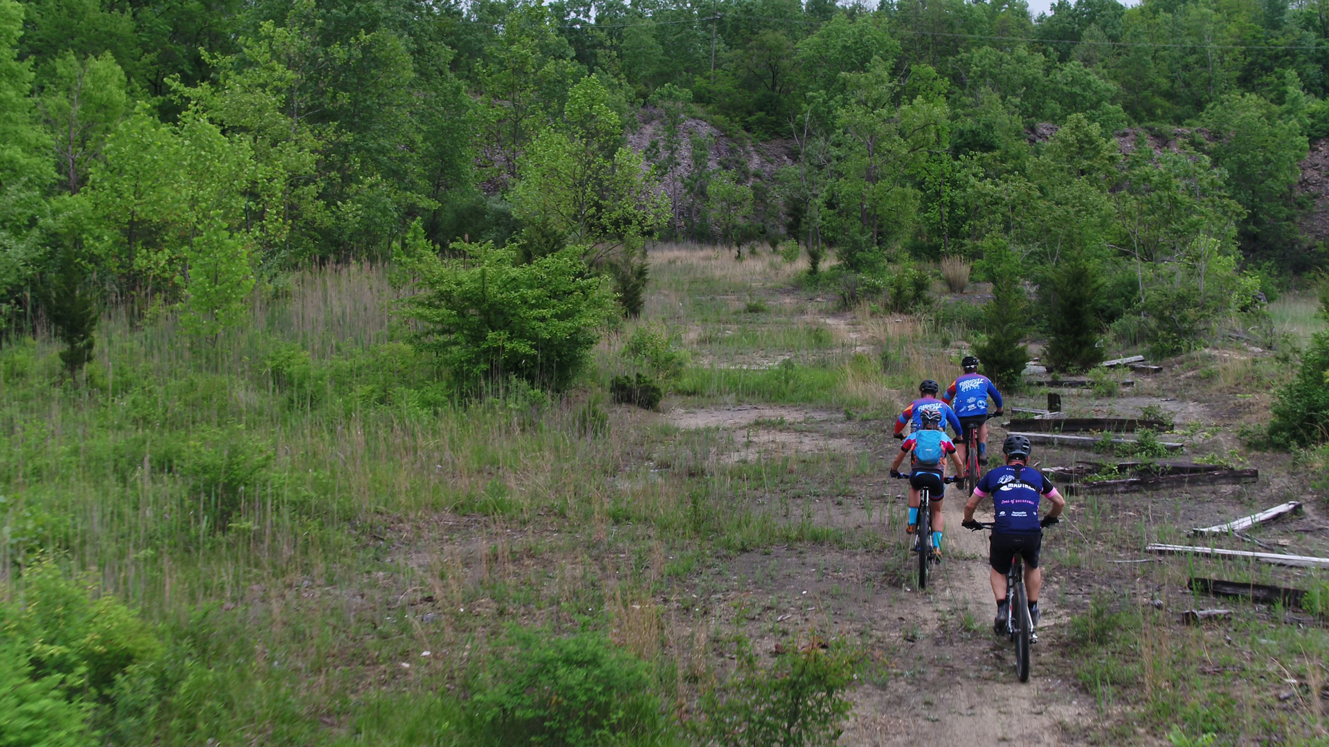 Bikers at Quarry Trails Metro Park.