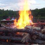 Camp fire at Quarry Trails