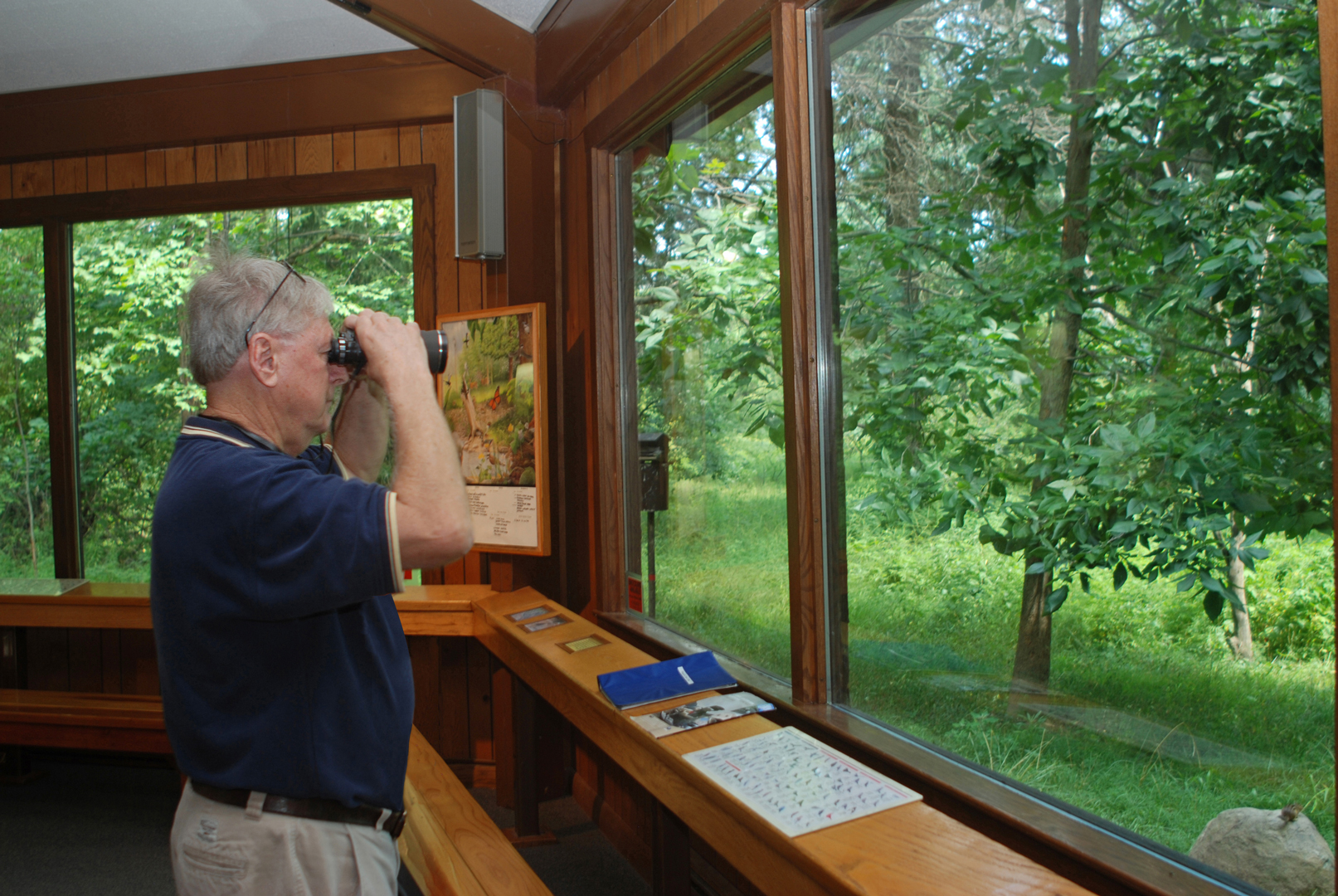 Great views of birds and other wildlife present themselves through the nature center windows at Blacklick Woods. Photo by Bill McCracken.