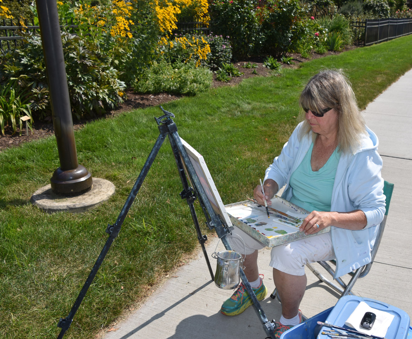 Roses In Garden: Plein Air Art Society Enjoys A Paint Out At Inniswood
