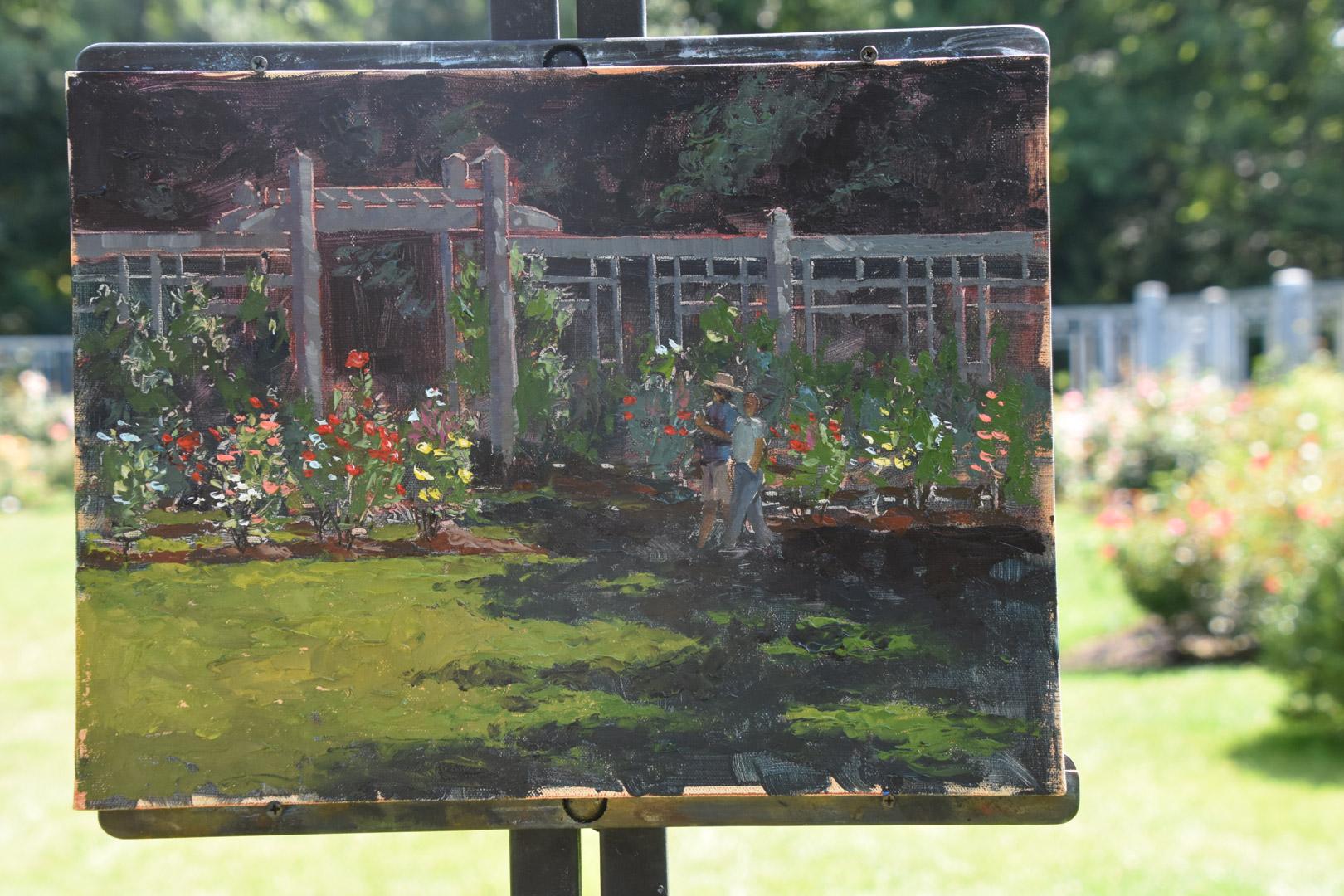 Roses In Garden: 1080p_Robin_final-canvas-at-Rose-Garden