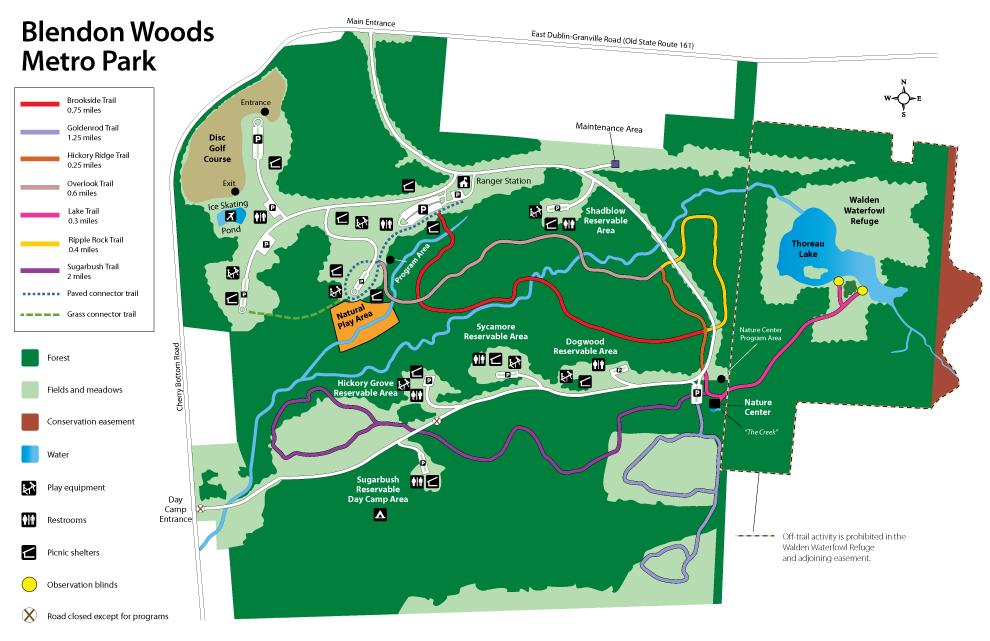 Blendon Park Map - Metro Parks