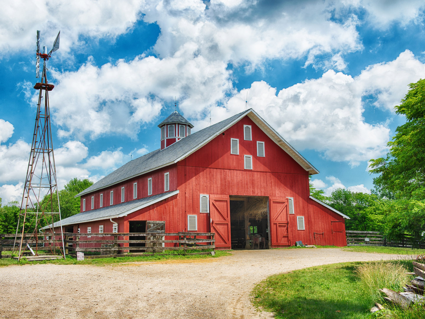 The 19th-century barn at Slate Run Living Historical Farm