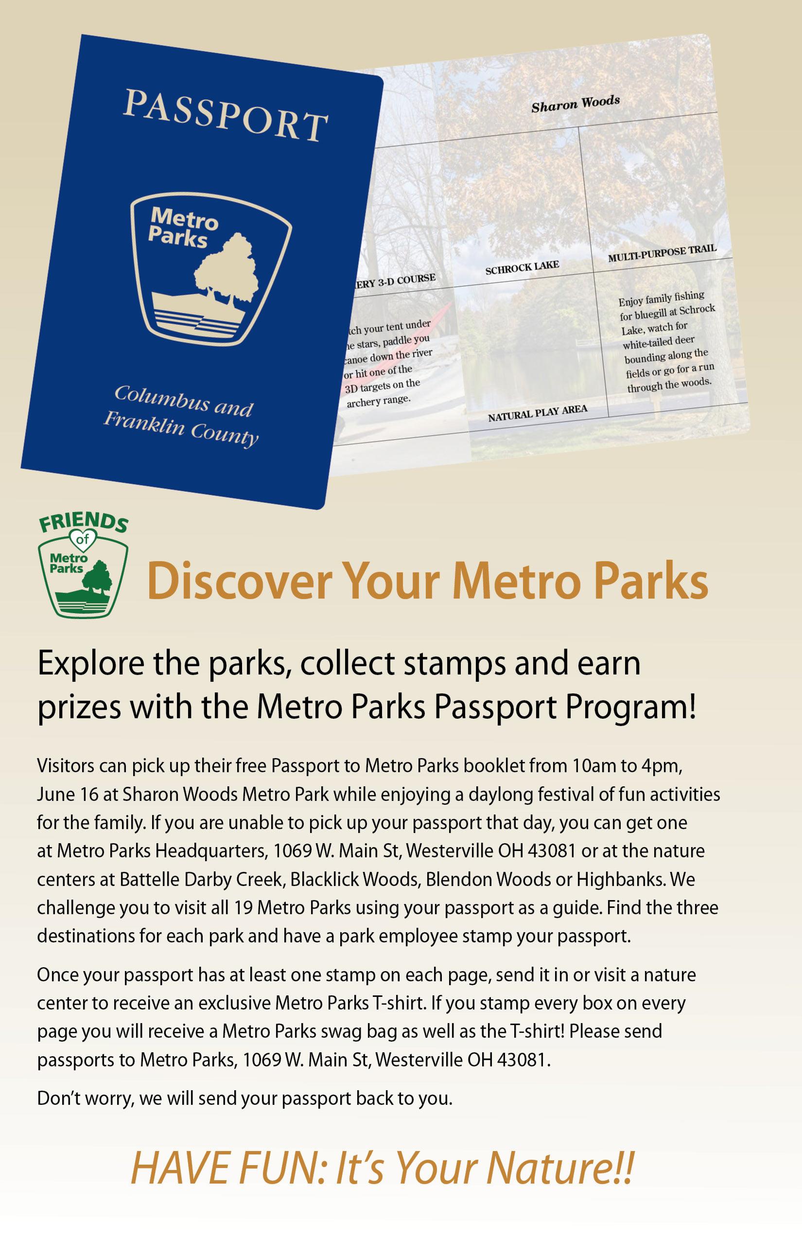 Metro Parks Passport Program Metro Parks Central Ohio Park System