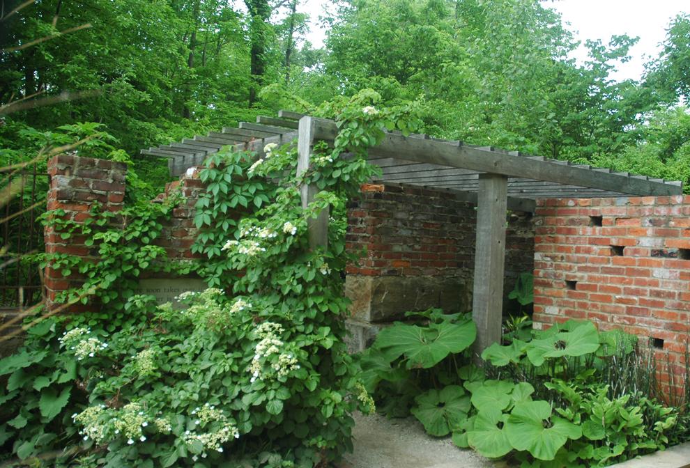 Secret Garden at Inniswood designed to look like an abandoned homestead