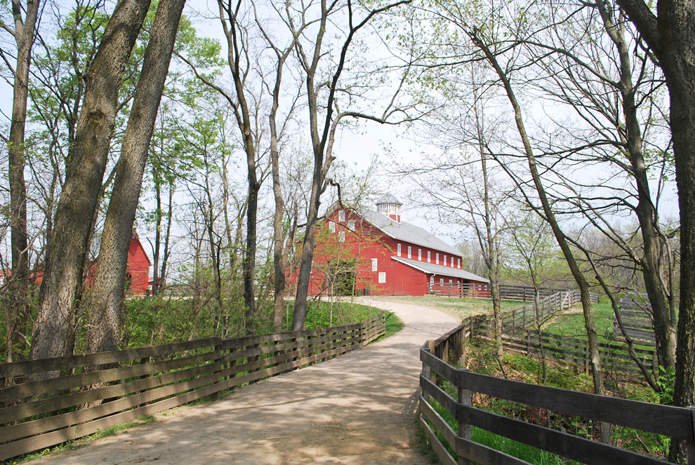 Path to barn at Slate Run Farm