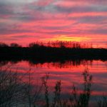 April sunset at Pleasant Valley area of Battelle Darby Creek