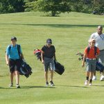 Young golfers on a First Tee of Central Ohio program on the fairway at Blacklick Woods Golf Course