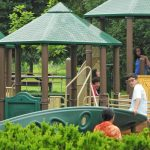 Kids on the play equipment at Homestead Metro Park