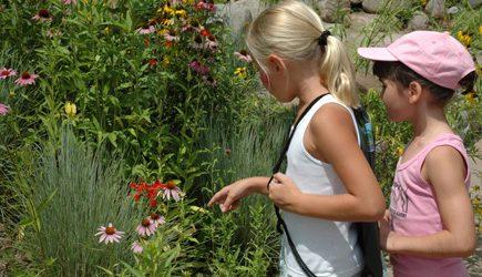Kids in Inniswood Sisters Garden