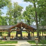 Rocky Fork Millstone Picnic Shelter in May
