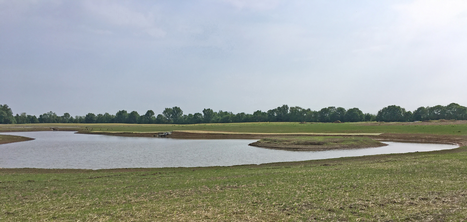 Fishing Pond in Burning Lake area at Pickerington Ponds Metro Park