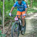 Rider on the Mountain Bike Trail at Chestnut Ridge