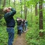 Birders on the trail at Clear Creek Metro Park