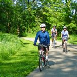 Bikers on the Blacklick Woods Greenway Trail in Pickerington Ponds Metro Park