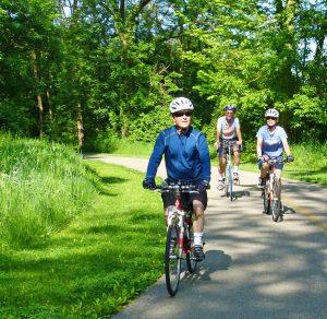 Bikers on the Blacklick Woods Greenway Trail in Pickerington Ponds Metro Park