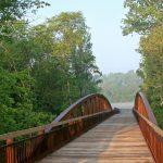 Bridge over Big Darby Creek in the Darby Bend Lakes area of Prairie Oaks Metro Park