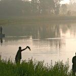 Anglers at Darby Bend Lakes in Prairie Oaks Metro Park