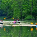 Kayakers on Big Darby Creek in Prairie Oaks Metro Park