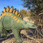 This huge foam dinosaur is one of many 3D targets at the Scioto Grove archery range