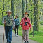 Walkers on picnic area trails at Sharon Woods