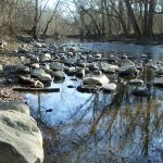 Rocks in Big Darby Creek in early spring