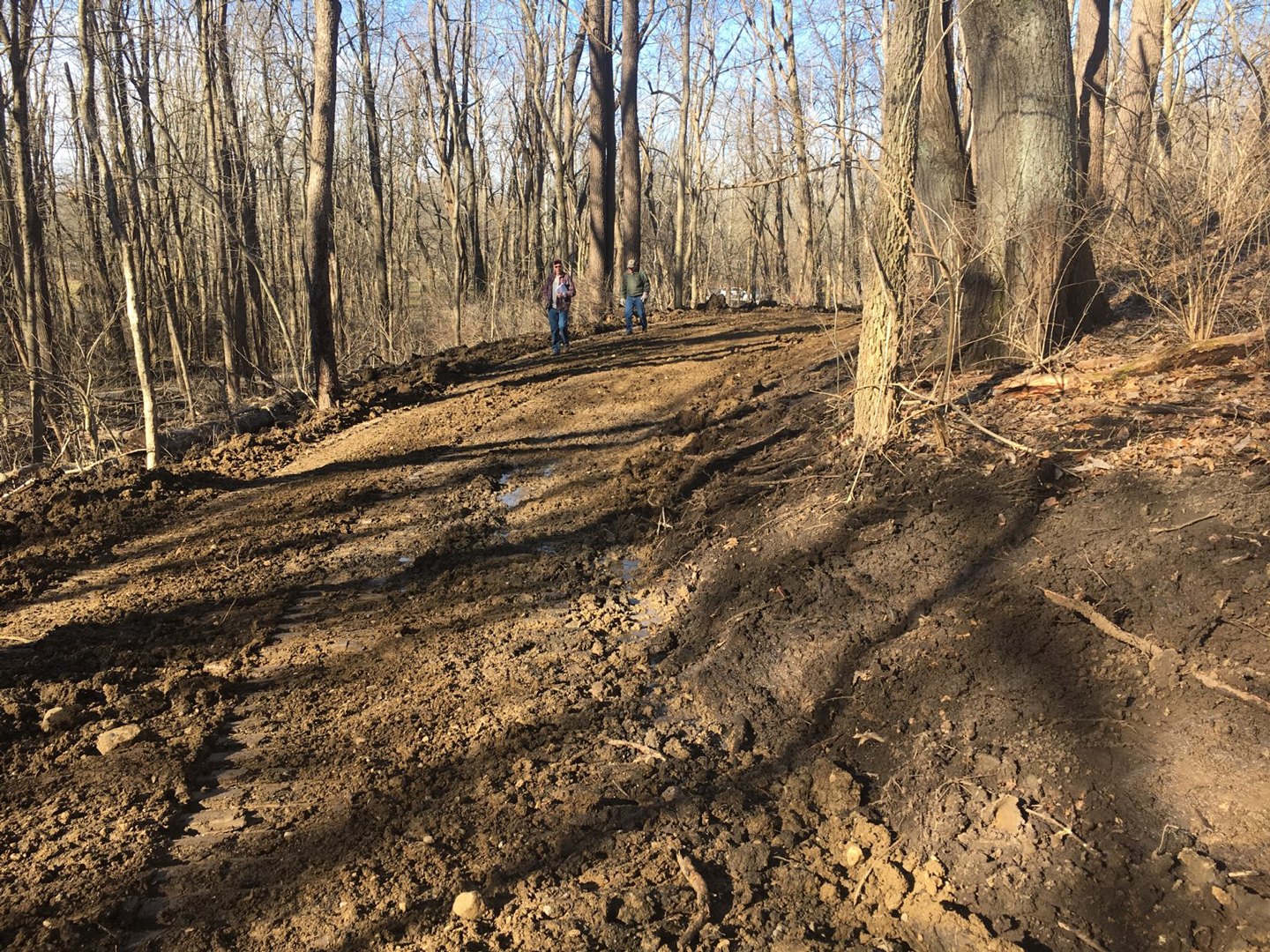 Excavated trail bed will form part of the Camp Chase Trail running through Battelle Darby Creek Metro Park.