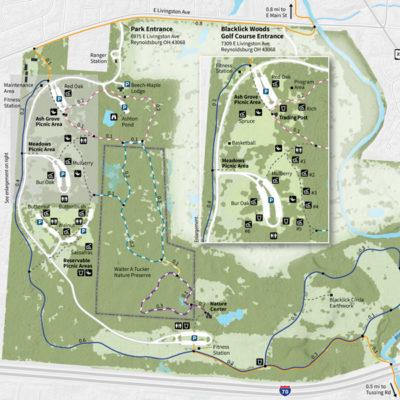 Blacklick Woods Park Map