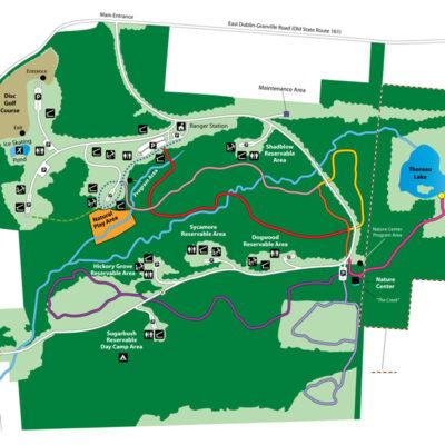 Blendon Woods Park Map