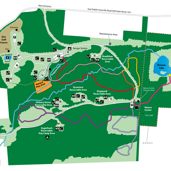 Blendon Woods Park Map
