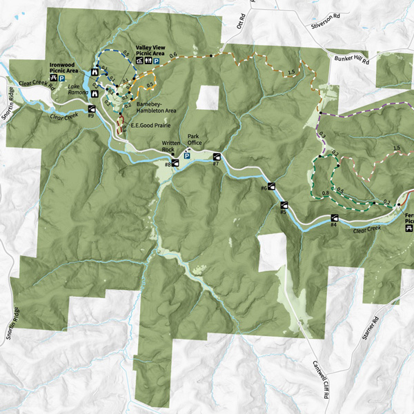 Clear Creek Park Map