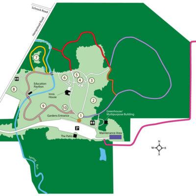 Inniswood Metro Gardens Park Map