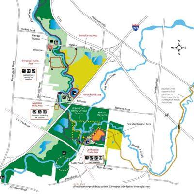 Three Creeks Park Map