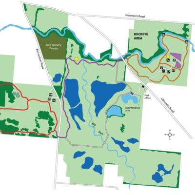 Walnut Woods Parkmap
