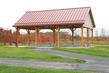 Picnic shelter at the Buckeye Area in Walnut Woods.
