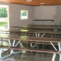 Dan Bissonette, photographer. Interior of the picnic shelter at Hickory Grove, Blendon Woods.