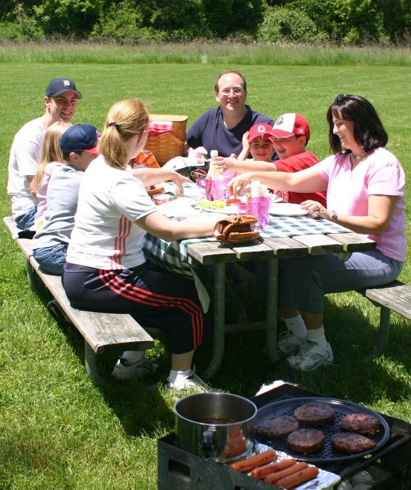 Picnicking at Blendon Woods.