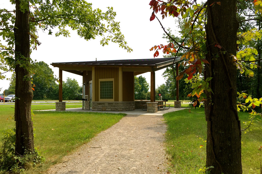 Shelter in the dog park area of Rocky Fork Metro Park.